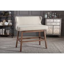 Upholstered Banquette Baxton Studio Gradisca Modern And Contemporary Light Beige Fabric