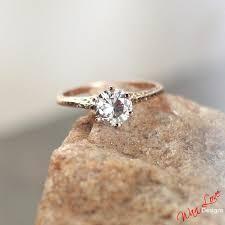 filigree engagement rings moissanite solitaire antique style filigree engagement ring 75 1