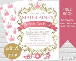 10 tea party invitation template psd word and vector eps format