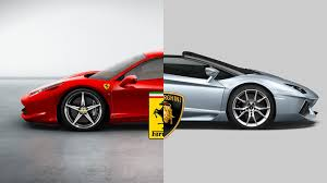 ferraris and lamborghinis versus vs lamborghini