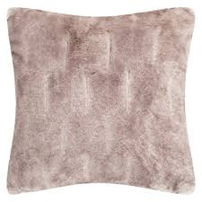 textured chinchilla faux fur throw pillow hayneedle