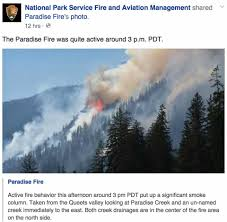 Bc Wildfire Management Facebook by Paradise Fire U2013 Wildfire Today