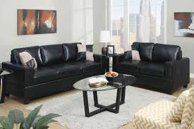 Sofa Set For Small Living Rooms Living Room Decorating The Living Room Using A Black Leather