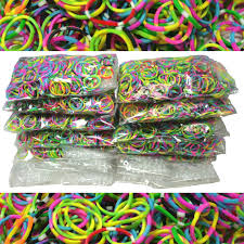 tie dye rubber bands for use with rainbow loom kit and diy loom