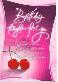 pretty pink flower happy birthday card wish her good health and