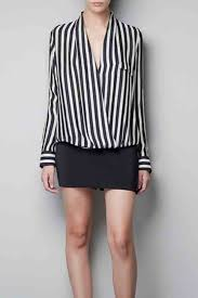 black and white striped blouse v neck sleeves striped blouse womens shirts blouses