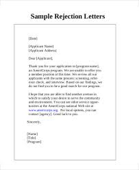 Regret Letter Unable To Join 7 rejection letter templates 7 free sle exle format