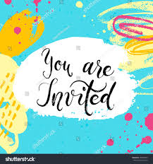 You Are Invited Card You Invited Party Invitation Card Vector Stock Vector 450806953