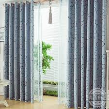 Teal Living Room Curtains Modern Style Print Circle Thermal Solid Living Room Curtain Buy