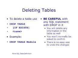 Oracle Drop Table If Exists More Sql Data Definition Ppt Download