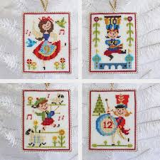 twelve days of cross stitch sler and ornament pattern