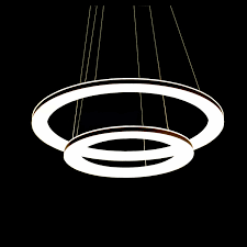 2 Light Pendant Fixture Modern Simple Acrylic Led Circle Pendant Light 2 Light Energy