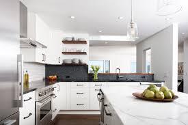 backsplashes for white kitchens contrast backsplash houzz