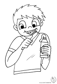 Print Child Brushing Teeth For Coloring Brushing Teeth Coloring Pages