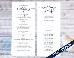 template for wedding programs wedding program templates wedding templates and printables