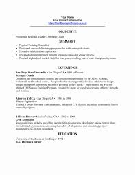 personal trainer resume personal trainer resume sle new cover letter exle exles