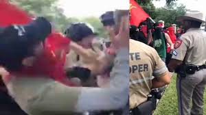 when antifa showed up in texas today cops immediately made them