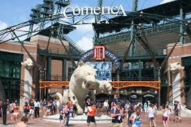 Comerica Park Map Comerica Park U2013 Detroit Tigers Stadium Journey