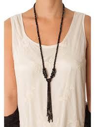 black necklace long images 20s inspired long black crystal tassel necklace vintage style jpg