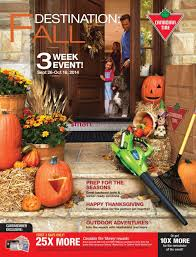 canadian thanksgiving 2014 canadian tire fall catalogue september 26 to october 16
