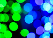 abstract background of blue and green spot lights stock photo