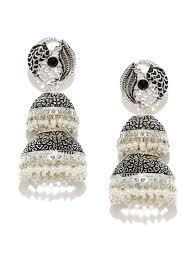 jhumka earrings online shopping jhumkas buy jhumka earrings online in india myntra