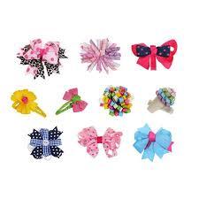 ribbon bows bundle 10pc girl baby toddler ribbon bows mixed design