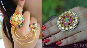 beautiful big rings images Beautiful new kundan big rings ideas for wedding outfits latest jpg