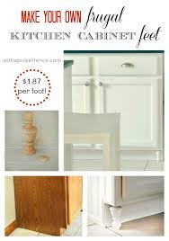 make your own cabinets make your own frugal kitchen cabinet feet at the picket fence