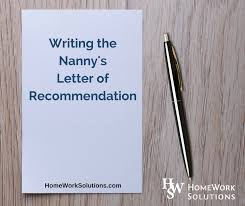 writing the household employee u0027s letter of reference