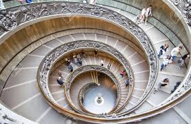 rome italy october 17 unidentified people down the spiral