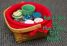 Postpartum Gift Basket Baby Food Jar Mug Cake Recipes And Gift Basket My Little Me