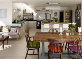 open plan kitchen diner ideas dining kitchens 25 beautiful kitchens with dining tables unique