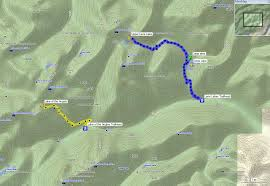 Mt Washington Trail Map by Upper Lena Lake 2012