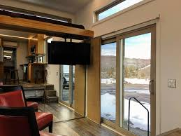 tiny house studio sliding glass entry modern scandinavian tiny house studio tiny
