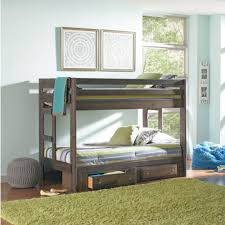 gray twin full bunk bed