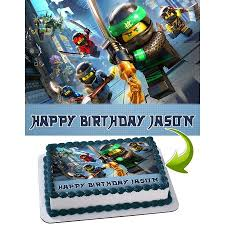 ninjago cake topper lego ninjago personalized cake toppers icing sugar paper a4 sheet