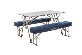 Folding Picnic Table With Benches Kamp Rite Kwik Set Table With Benches Kamp Rite