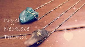 crystal necklace diy images Crystal necklace tutorial diy jpg