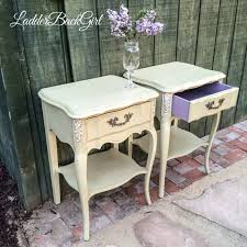 sold vintage french provincial nightstands end tables painted