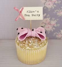 personalised cupcakes personalised hen party cupcake toppers vintage twee