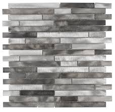 stainless steel mosaic tile backsplash aluminum mosaic tile interlocking silver mix mineral tiles
