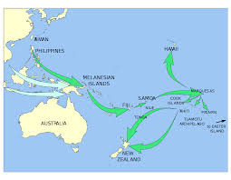 Map Of Oceania Polynesian Migration In Oceania