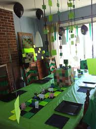 minecraft party decorations minecraft birthday party ideas birthdays birthday party ideas