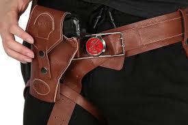 hellboy belt with gun holster pu costume accessories movie cosplay