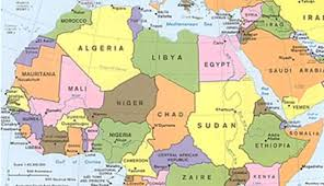 map with names of countries in africa hausa about world languages