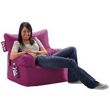 Dorm Lounge Chair Amazon Com Big Joe Dorm Chair Pink Passion Kitchen U0026 Dining