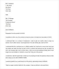 resignation letter best professional resignation letter sample