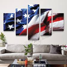 american flag home decor 5 panel american flag us flag canvas wall art painting home decor