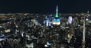 check out lower and midtown manhattan from above at night in this